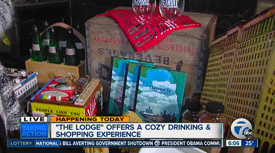 The Lodge offers a cozy holiday drinking and shopping experience