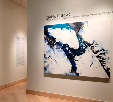 Diane Burko: Glacial Art, and Warning, From Above